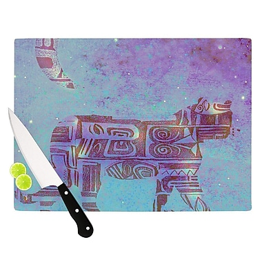 KESS InHouse Panther at Night by Marianna Tankelevich Cutting Board; 0.5'' H x 11'' W x 7.5'' D