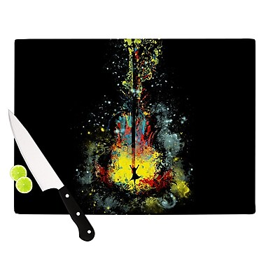 KESS InHouse Midnight Syphony by Frederic Levy-Hadida Cutting Board; 0.5'' H x 15.75'' W x 11.5'' D
