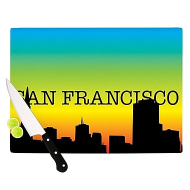 KESS InHouse San Francisco Rainbow Cutting Board; 0.5'' H x 11'' W x 7.5'' D