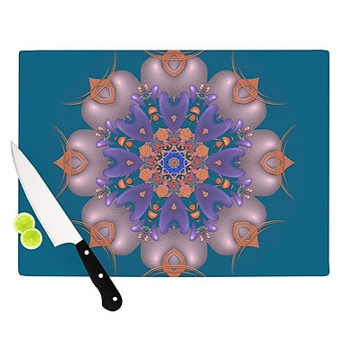 KESS InHouse Whisker Lily by Michael Sussna Cutting Board; 0.5'' H x 15.75'' W x 11.5'' D