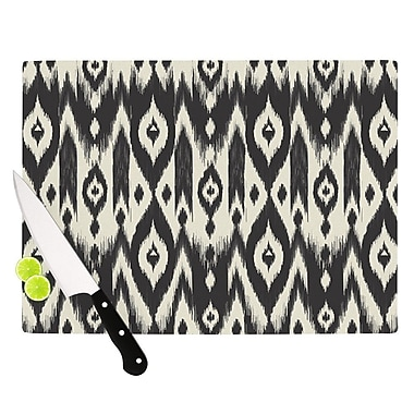 KESS InHouse Black Cream Tribal Ikat by Amanda Lane Cutting Board; 0.5'' H x 15.75'' W x 11.5'' D