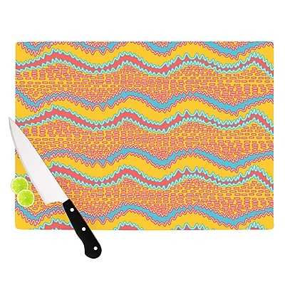 KESS InHouse Pink Waves by Nandita Singh Cutting Board; 0.5'' H x 11'' W x 7.5'' D WYF078277497334