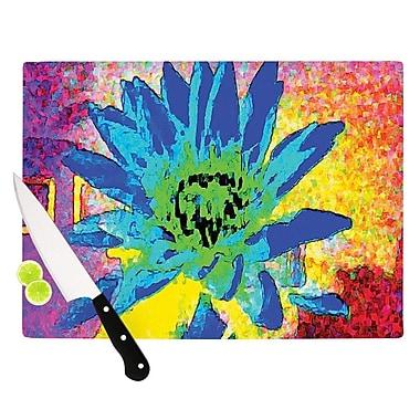 KESS InHouse Wild Lotus by Anne LaBrie Flower Cutting Board; 0.5'' H x 15.75'' W x 11.5'' D