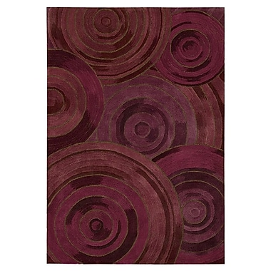 Kathy Ireland Home Gallery Palisades Ovation Hand-Tufted Plum Area Rug; Rectangle 3'9'' x 5'9''