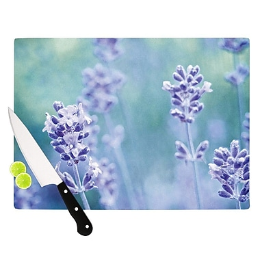 KESS InHouse Lavender Dream by Iris Lehnhardt Flower Cutting Board; 0.5'' H x 15.75'' W x 11.5'' D