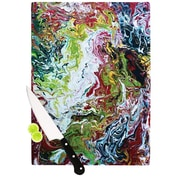 KESS InHouse Chaos by Claire Day Cutting Board; 0.5'' H x 11'' W x 7.5'' D