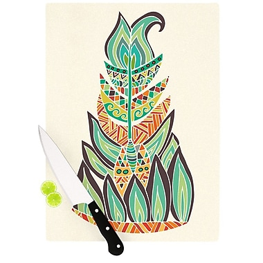 KESS InHouse Tribal Feather by Pom Graphic Design Cutting Board; 0.5'' H x 15.75'' W x 11.5'' D