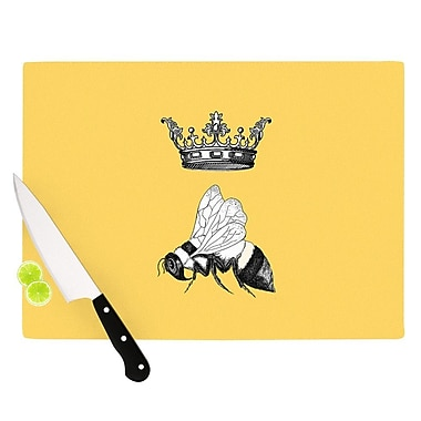 KESS InHouse Queen Bee by Catherine Holcombe Canary Cutting Board; 0.5'' H x 15.75'' W x 11.5'' D