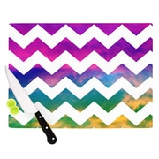 KESS InHouse Lucky Chevron by Beth Engel Cutting Board; 0.5'' H x 15.75'' W x 11.5'' D