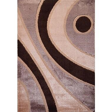 Luxury Home Contempo Modern Brown/Tan Area Rug; 8' x 11'