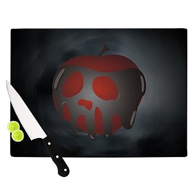 KESS InHouse One Last Bite Poison Apple Cutting Board; 0.5'' H x 11'' W x 7.5'' D