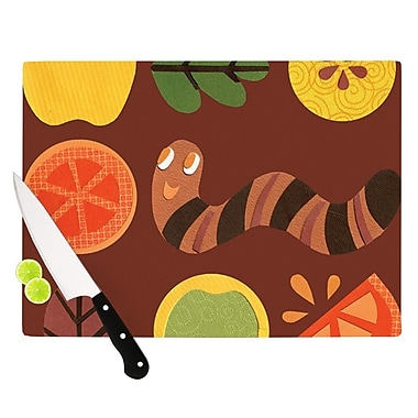 KESS InHouse Autumn Repeat by Jane Smith Bugs Cutting Board; 0.5'' H x 11'' W x 7.5'' D