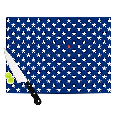 KESS InHouse Red Star by Bruce Stanfield Cutting Board; 0.5'' H x 15.75'' W x 11.5'' D