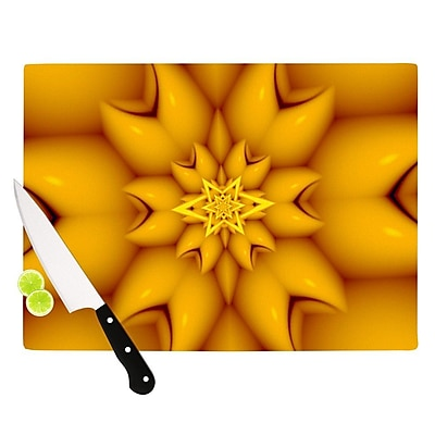KESS InHouse Citrus Star by Michael Sussna Cutting Board; 0.5'' H x 11'' W x 7.5'' D WYF078277497348