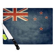 KESS InHouse Flag of New Zealand by Bruce Stanfield Cutting Board; 0.5'' H x 15.75'' W x 11.5'' D