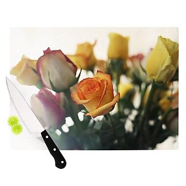 KESS InHouse Sweet Reminder by Beth Engel Flowers Cutting Board; 0.5'' H x 15.75'' W x 11.5'' D