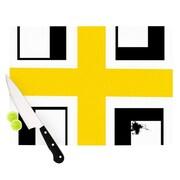 KESS InHouse Across The White by Oriana Cordero Cutting Board; 0.5'' H x 11'' W x 7.5'' D