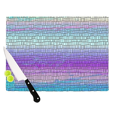 KESS InHouse Drip Dye Cool Strid by Nina May Geometry Cutting Board; 0.5'' H x 15.75'' W x 11.5'' D