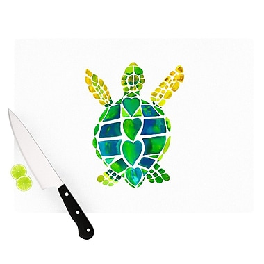 KESS InHouse Turtle Love by Catherine Holcombe Cutting Board; 0.5'' H x 15.75'' W x 11.5'' D