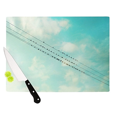 KESS InHouse Birds on Wires by Sylvia Cook Sky Cutting Board; 0.5'' H x 11'' W x 7.5'' D