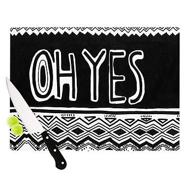 KESS InHouse Oh Yes by Vasare Nar Cutting Board; 0.5'' H x 15.75'' W x 11.5'' D