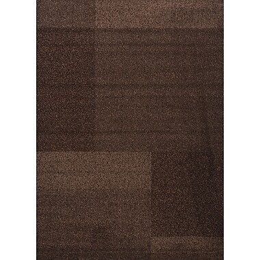 Luxury Home Estella Texture Brown Area Rug; 6' x 8'