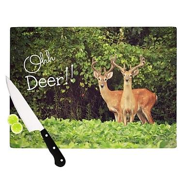 KESS InHouse Ohh Deer by Robin Dickinson Cutting Board; 0.5'' H x 11'' W x 7.5'' D