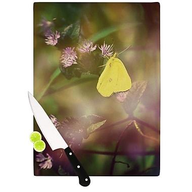 KESS InHouse Butterfly Kisses by Robin Dickinson Cutting Board; 0.5'' H x 15.75'' W x 11.5'' D
