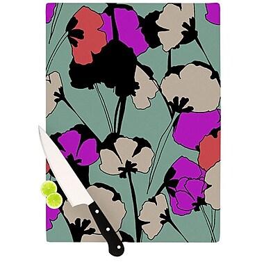 KESS InHouse Vintage Flowers by Gabriela Fuente Cutting Board; 0.5'' H x 15.75'' W x 11.5'' D