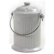 Norpro Kitchen/Countertop Composter; Ceramic White