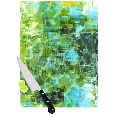 KESS InHouse Pastel Jungle II by Ebi Emporium Cutting Board; 0.5'' H x 11'' W x 7.5'' D
