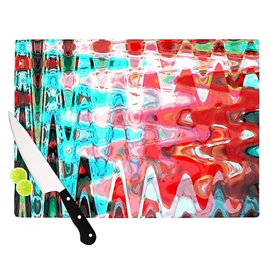 KESS InHouse Aqua Wave by Suzanne Carter Abstract Cutting Board; 0.5'' H x 15.75'' W x 11.5'' D
