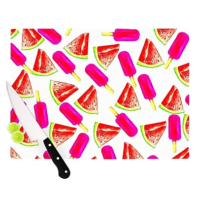 KESS InHouse Strawberry & Watermelon by Sreetama Ray Cutting Board; 0.5'' H x 15.75'' W x 11.5'' D WYF078277499330