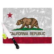 KESS InHouse California Flag by Bruce Stanfield Cutting Board; 0.5'' H x 11'' W x 7.5'' D