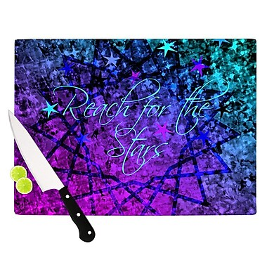 KESS InHouse Reach For The Stars by Ebi Emporium Cutting Board; 0.5'' H x 15.75'' W x 11.5'' D