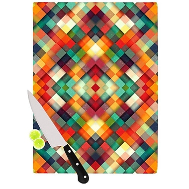 KESS InHouse Time Between by Danny Ivan Geometric Abstract Cutting Board; 0.5'' H x 11'' W x 7.5'' D
