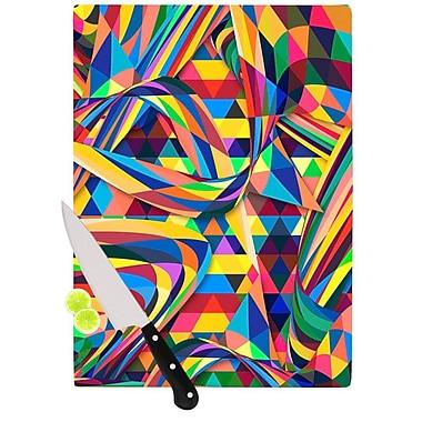 KESS InHouse The Optimist by Danny Ivan Geometric Cutting Board; 0.5'' H x 11'' W x 7.5'' D