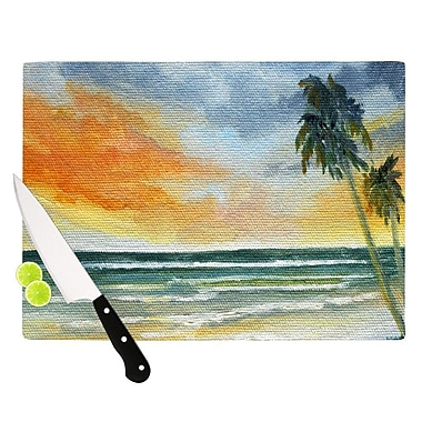 KESS InHouse End of Day by Rosie Brown Beach Cutting Board; 0.5'' H x 11'' W x 7.5'' D