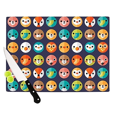 KESS InHouse Smiley Faces Repeat by Daisy Beatrice Animal Cutting Board; 0.5'' H x 11'' W x 7.5'' D