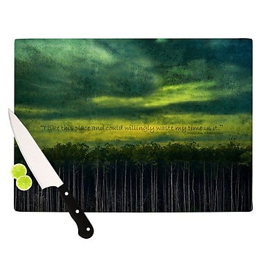 KESS InHouse I Like This Place by Robin Dickinson Cutting Board; 0.5'' H x 15.75'' W x 11.5'' D
