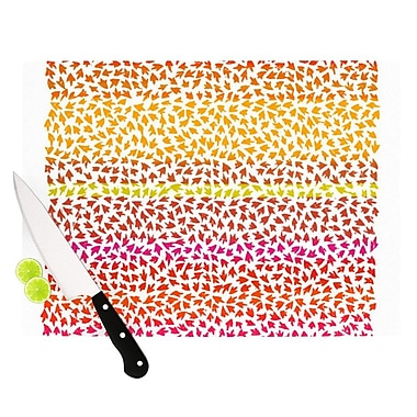 KESS InHouse Sunset Arrows by Sreetama Ray Abstract Cutting Board; 0.5'' H x 11'' W x 7.5'' D