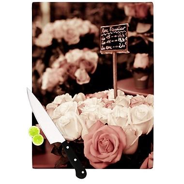 KESS InHouse Paris Flower Market by Ann Barnes Roses Cutting Board; 0.5'' H x 15.75'' W x 11.5'' D