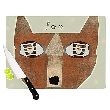 KESS InHouse Fox Face by Bri Buckley Cutting Board; 0.5'' H x 15.75'' W x 11.5'' D