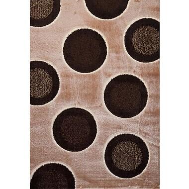 Luxury Home Signature Dots Earthtone Area Rug; 6' x 8'
