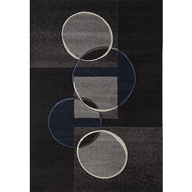Luxury Home Milano Circle Chain Area Rug; 6' x 8'