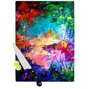 KESS InHouse Welcome to Utopia by Ebi Emporium Rainbow Cutting Board; 0.5'' H x 11'' W x 7.5'' D