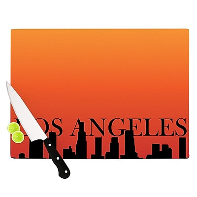 KESS InHouse Los Angeles Cutting Board; 0.5'' H x 11'' W x 7.5'' D WYF078277500230