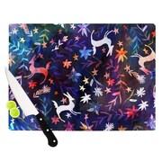 KESS InHouse Watercolour Folk by Nikki Strange Cutting Board; 0.5'' H x 11'' W x 7.5'' D