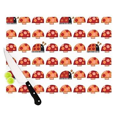 KESS InHouse Garden Ladybugs by Jane Smith Cutting Board; 0.5'' H x 15.75'' W x 11.5'' D