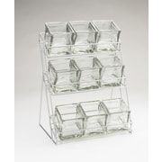 Cal-Mil 3 Tier Wire Rack w/ 9 Jars; Silver